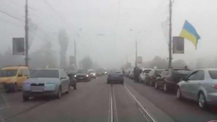 На Украине началась бензиновая революция – водители перекрыли дороги