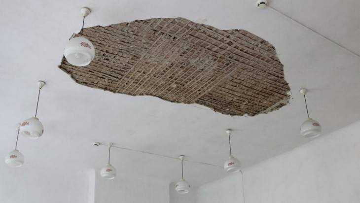 Пятеро детей пострадали из-за обрушения потолка вбрянской школе №3