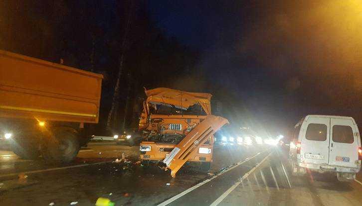 Под Брянском столкнулись два КАМАЗа компании «Мираторг»