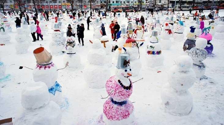 В парке Брянска пройдёт весёлое сражение необычных снеговиков
