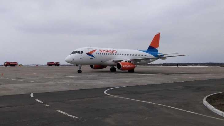 В брянском аэропорту приземлился самолет первого рейса из Краснодара
