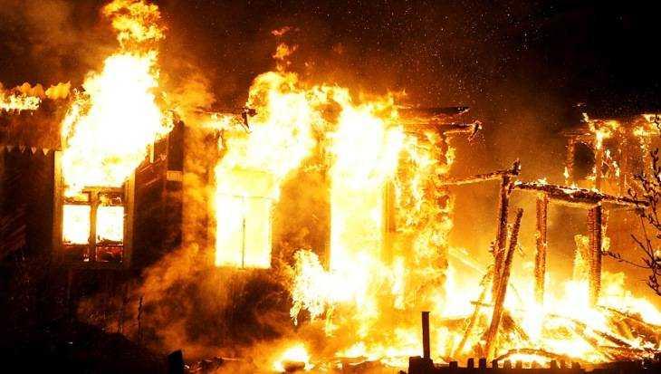 Встрашном пожаре под Брянском погибли три человека