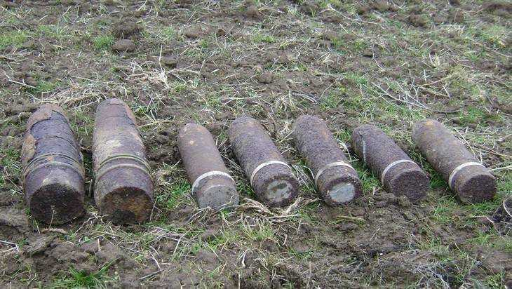 Под Карачевом уничтожен склад вооружения времен войны