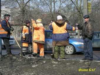 С первым морозцем брянские чиновники задумались о «влажной уборке» улиц