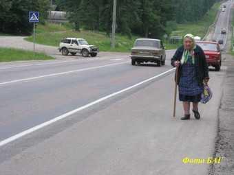 Брянские водители давят стариков