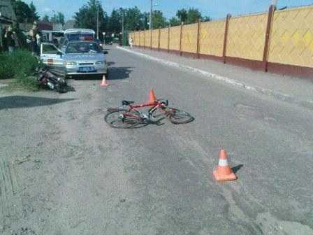 В Брянске начали сталкиваться водители двухколесных машин