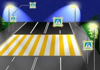 В Брянске появились первые системы светового оповещения на переходах