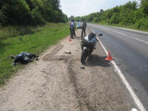 Под Брянском столкнулись  мотоциклисты, один из них погиб