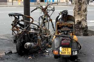 Сгорели неисправные транспортные средства