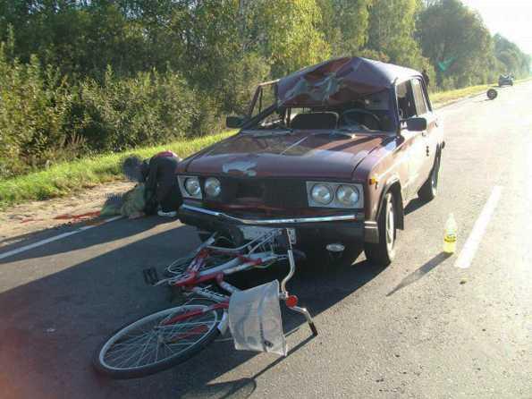 Пьяный водитель задавил велосипедистку