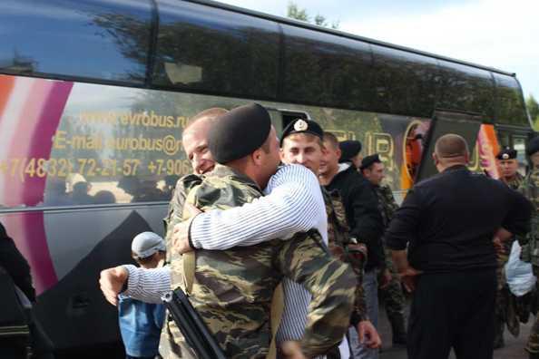 Брянский ОМОН вернулся из Чечни