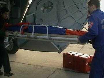 В столичную клинику Бочарова доставляли по воздуху
