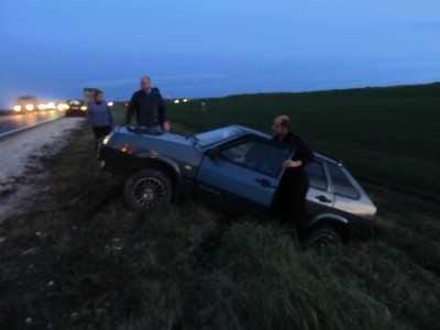 На объездной дороге около Брянска трезвый водитель показал пьяный трюк