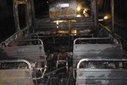 В сгоревшем на улице Брянска автобусе обгорела женщина