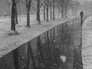 Второй снегопад в Брянске: с матом и буксованием