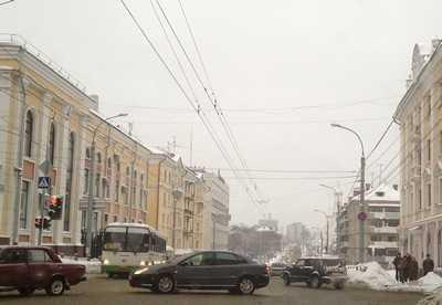 В Брянске весь проспект Ленина стал «пробкой»