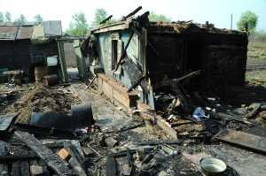 Брянский селянин убил пожилую мать и сжег родительский дом