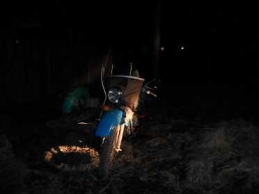 В брянском посёлке мотоциклист сбил пешехода и скрылся