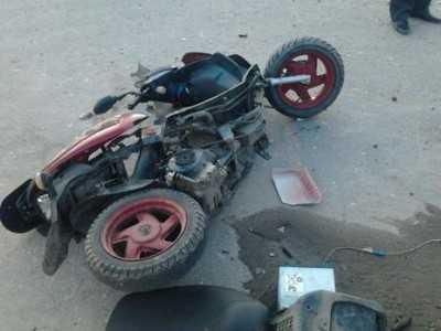 Подросток-скутерист столкнулся с автомобилем брянского полицейского