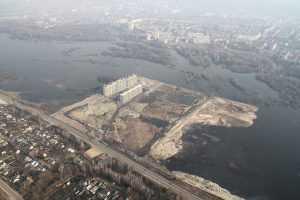 Новостройку на Флотской улице Брянска подтопило паводком