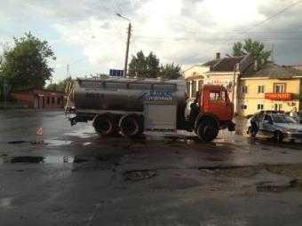 Житель Брянска  попал под колёса «КамАЗа»