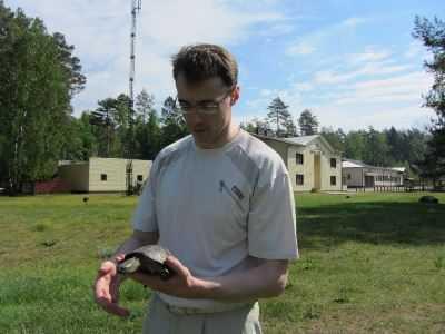 Житель Брянска обнаружил на лугу черепаху, занесённую в Красную книгу