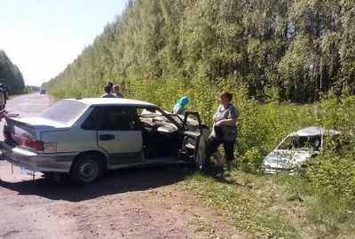 Возле Мглина двадцатилетний водитель спровоцировал столкновение