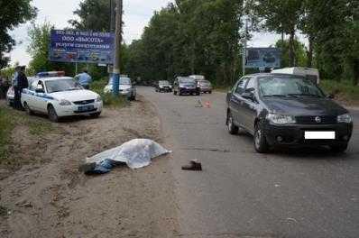 В Брянске  «Фиат Альбеа» насмерть задавил пенсионера