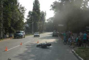 В Новозыбкове в ДТП с мопедом пострадали три человека