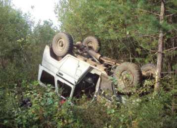 Пьяный водитель на грузовике столкнул с брянской трассы «УАЗ»