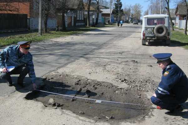 Брянские гаишники заставили городскую власть отвечать за дороги