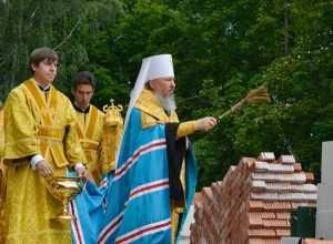 У брянского Кургана Бессмертия заложили основание нового храма