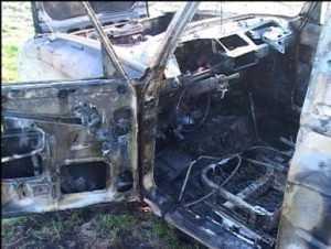 В брянском посёлке  сгорел автомобиль