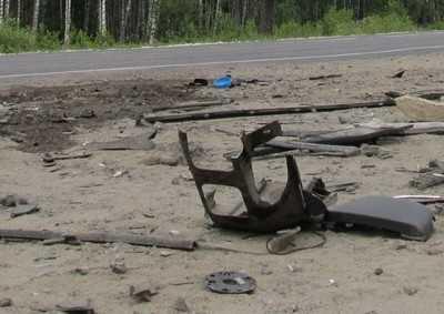 Под Брянском очередной водитель сбил очередной столб