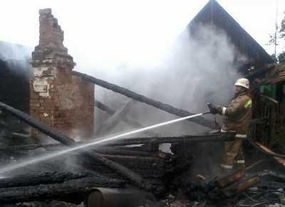 В брянском поселке Кокоревка при пожаре погибли два человека
