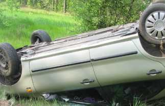 В Клинцовском районе  перевернулся «Фиат» — погибла женщина