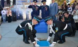 В Брянске заложили памятник Юрию Гагарину