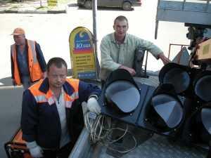 Столкнувшиеся под Брянском водители обвинили светофор