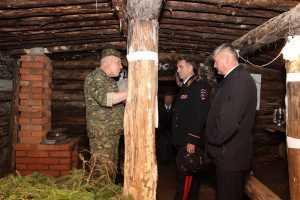 Возле землянки отряда Виноградова будут принимать присягу