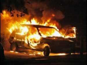 На трассе «Брянск – Дятьково»  водитель заживо сгорел в машине