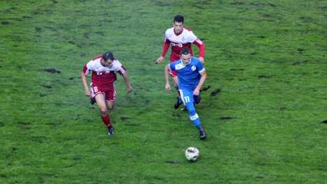 Дождливая погода не помешала брянским динамовцам победить «Локомотив»