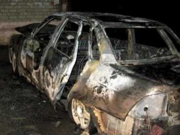 В Новозыбковском  посёлке сгорела иномарка