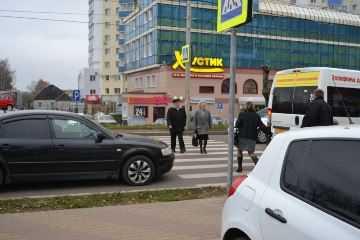 В центре Брянска машина сбила пенсионерку