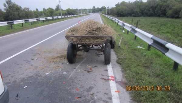 В Погарском районе «Форд» врезался в телегу – пострадал ребёнок