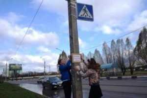 Брянские лицеисты установили памятную табличку на месте гибели пешехода