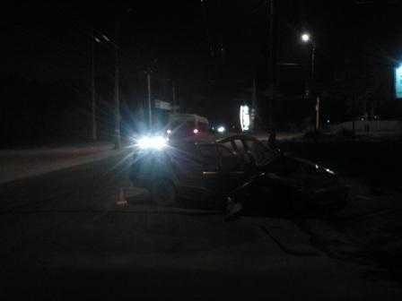 В Брянске москвич протаранил два автомобиля, двое ранены
