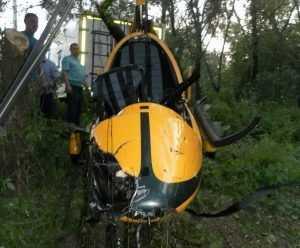 Вертолёт, рухнувший в Десну, разбился из-за слишком низкой высоты