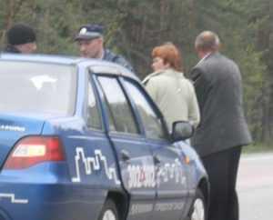 Под Брянском «кореец» протаранил автомобиль ДПС