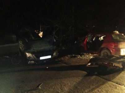 При столкновении иномарок в Брянске пострадали семь человек