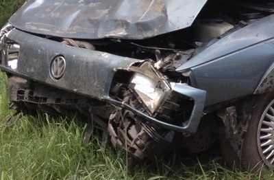 На брянском участке трассы «Украина» столкнулись три автомобиля